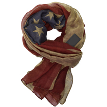 New Designer Women Vintage west style American Flag Scarf Woman Long Cotton Viscose Scarves Shawl Stole V9A18477