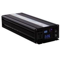 Off Grid Pure Sine Wave Solar Inverter 2500W 12V DC to 220V AC Car Power Inverter Converter 12/24V to 120V/220V/240V LED Display