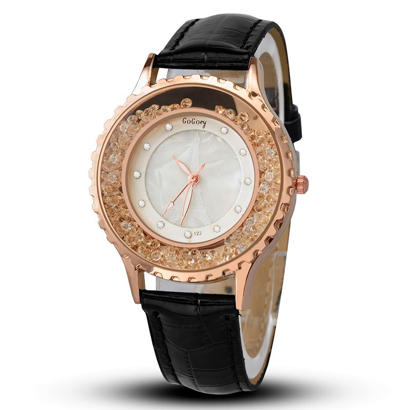 Gogoey Luxury Diamond Watch Women Watches Rose Gold Women's Watches Leather Ladies Watch Clock saat relogio feminino reloj mujer fashion ladies watch luxury reloj mujer women s watches rose gold stainless steel watch diamond clock women relogios saat luxury