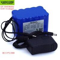 VariCore 12 v 10Ah 18650 li-lon battery pack 12.6 v 10000 mah com BMS Placa de Proteção do Circuito DC 5.5*2.1mm + 1A Carregador