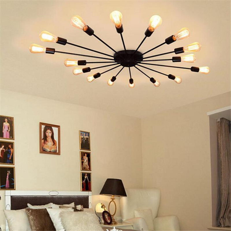 Nodic Retro Loft led Ceiling Lamp Minimalist Creative Luxury Iron Living Room Light Study Bedroom Mutil-Heads Wall Lamp