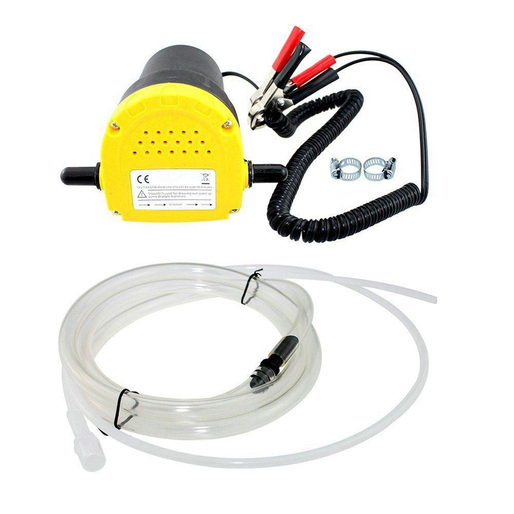 12 V 60 W Extractor de aceite crudo Extractor de sumidero Extractor de intercambio bomba de transferencia de succión + tubos para Auto Car Boat Mot
