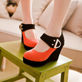2016 New Fashion Wedges shoes woman High Heel platform shoes large size 34-43