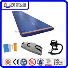 inflatable training air track outdoor gym air flooring sports mat with free pump for sale 6m x 2m x 0.2m