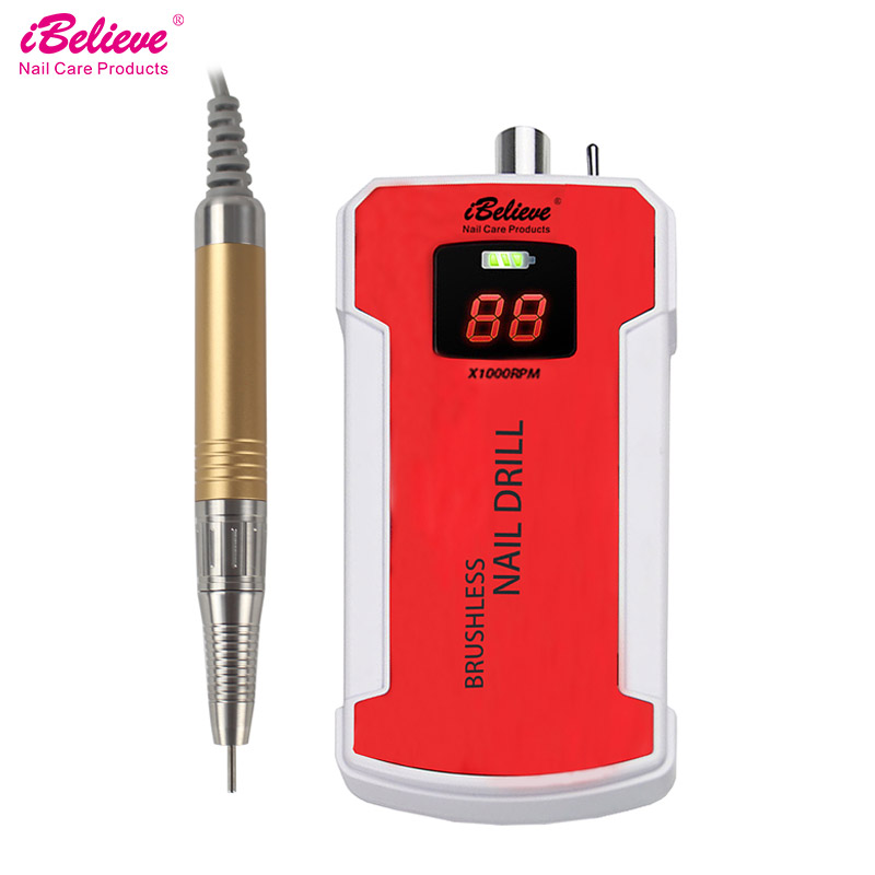80W 35000RPM Brushless Motor Nail Drill Machine Acrylic Rechargeable Nail Art Equipment Nail File Drill Manicure