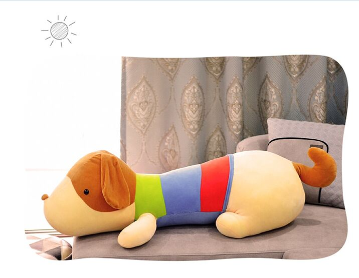big lovely plush dog toy soft colourful dog pillow doll gift about 85cm fancytrader 120cm super lovely jumbo plush shar pei dog toy large dog doll sleeping pillow gift for child free shipping ft50048