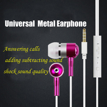 qijiagu Wired metal  universal earphone with Microphone Volume Control Bass for iphone5 6s