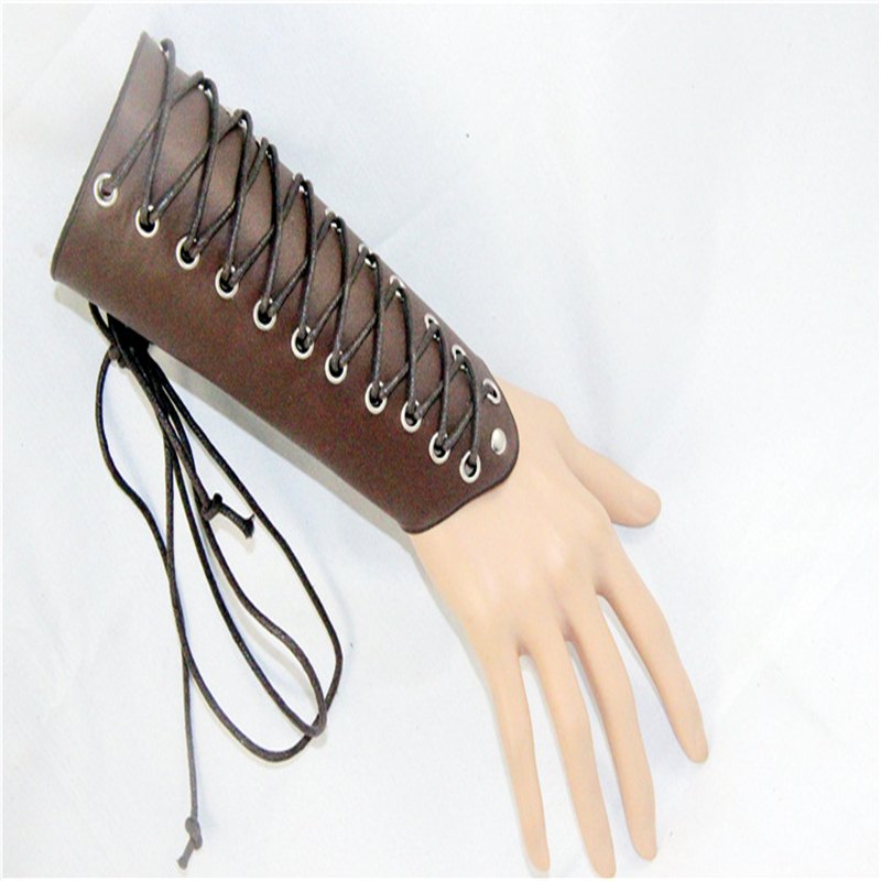 Cosplay Steampunk Rock Play Cool Ride Punk Style Lattice Embossed Arm Protection Nails Wrist Trend Jewelry Costumes & Accessories