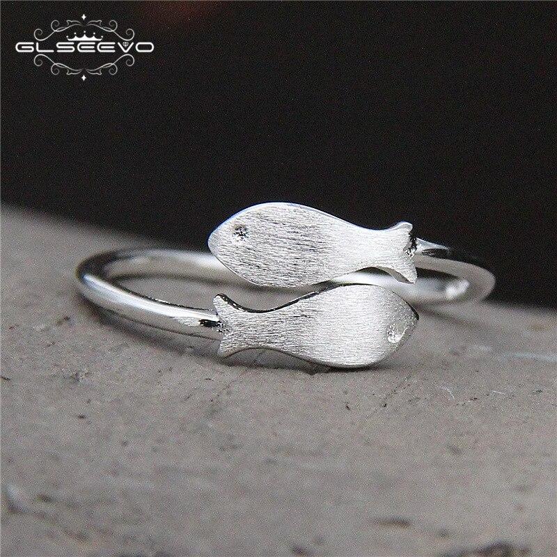 GLSEEVO 925 Срібні жіночі кільця Щітка - Вишукані прикраси