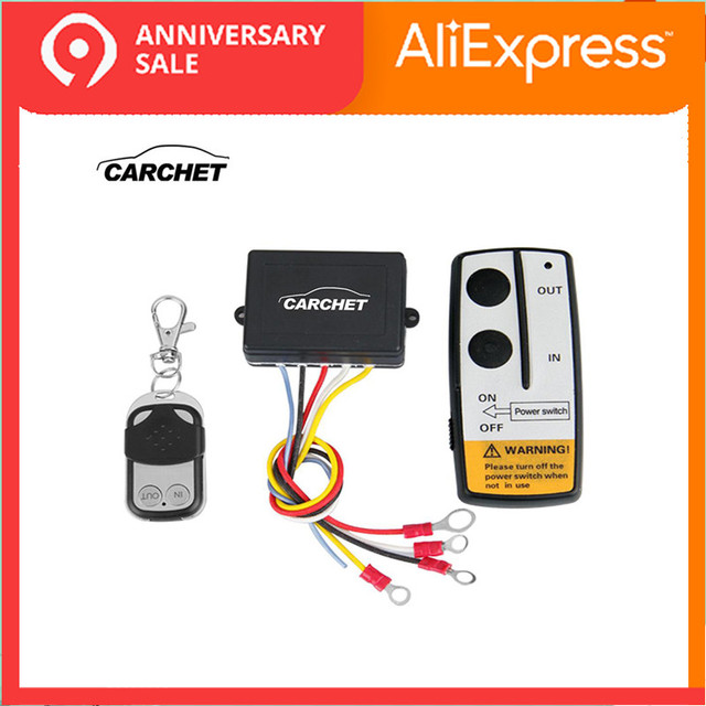 carchet winch 12v 12 volt wireless remote control kit for jeep truck