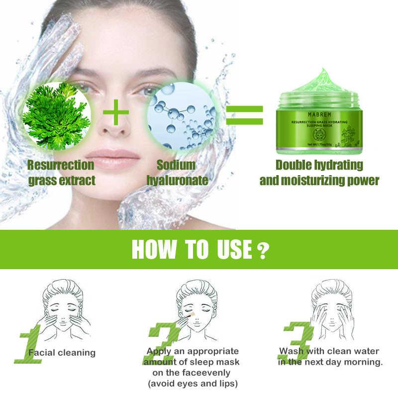 MABREM Pianta Idratante Viso Maschera Idratante Anti-Aging Sbiancamento Cura Della Pelle Crema Rivitalizzante Dormire Maschera Facciale Trattamento