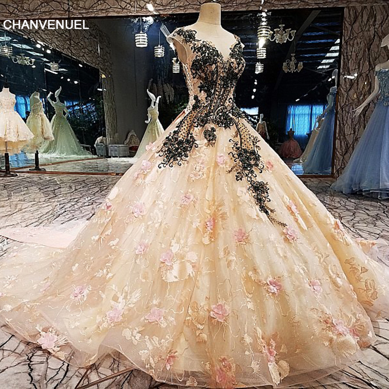 LS00131 Evening Dress long Luxury Ball Gown See Through Back Applique Lace  Evening Dress 2018 Vestido De Festa Real Photos c2944acf7595