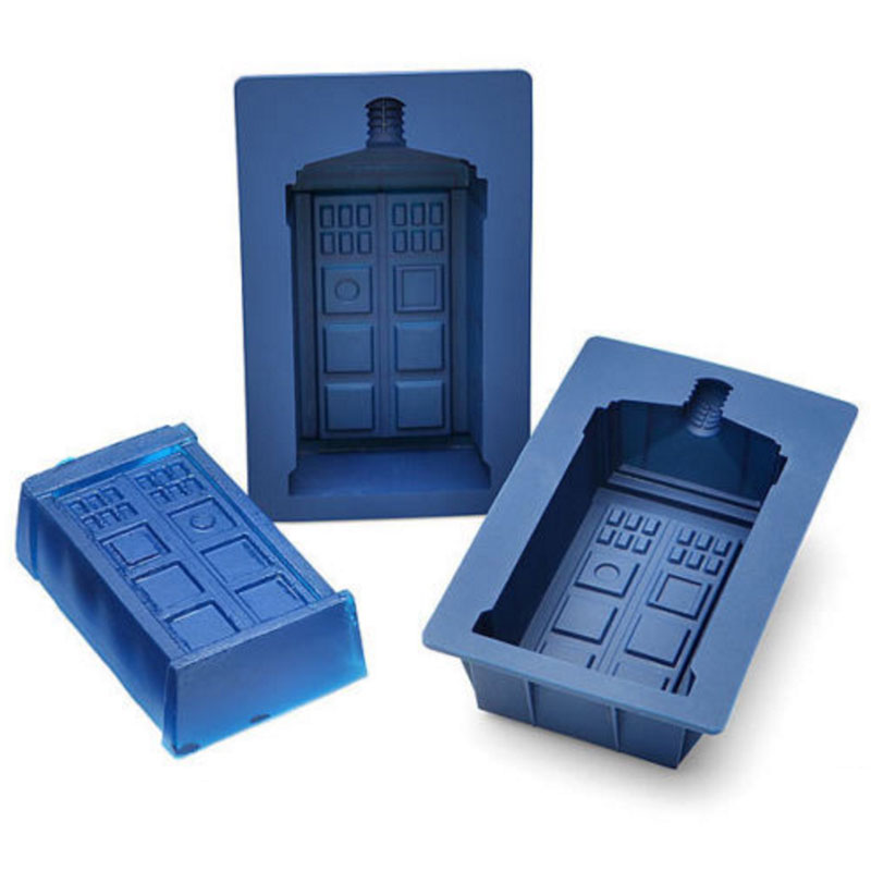 Dr Doctor Who Tardis Ice Cube Mold Maker Bar Party Silicone Trays Jelly Chocolate Gelatin Mold Kitchen Tool, A Great Gift