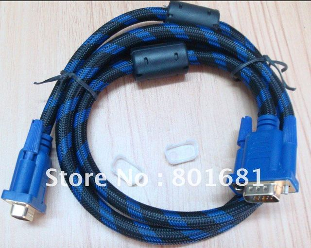 NEW TYPE  HD15PIN  5FT GOLD PLATED VGA CABLE  FOR PROJECTOR WITH DOUBLE FERRITS AND NYLON COVER