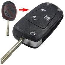 Установите Пульт Дистанционного Складной Ключ Флип Чехол Для Ford Focus Mondeo КА Uncut Бланк Fob 3 Кнопки с ЛОГОТИПОМ