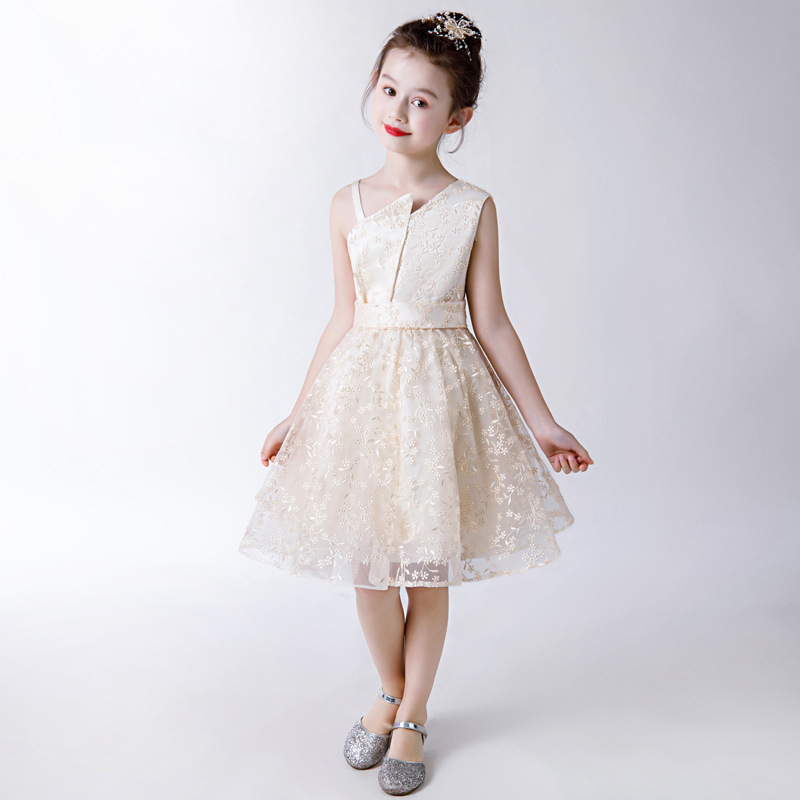 Mother Daughter Clothes Banquet Clothes Summer New Fashion Irregular Collar Simple Elegent Champagne Mother And Daughter DressesMother Daughter Clothes Banquet Clothes Summer New Fashion Irregular Collar Simple Elegent Champagne Mother And Daughter Dresses