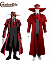 Cosplaydiy Vampire Hunter Cosplay Hellsing Alucard cosplay Costumes Cool Man Suit and High Cotton Content Long Coat Best Outfits