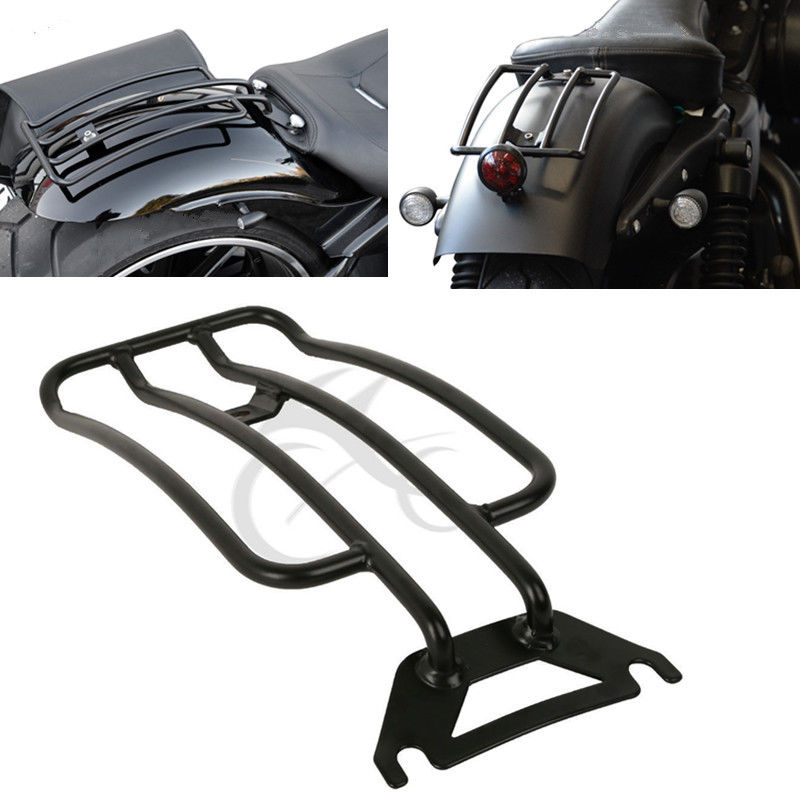 Rear Luggage Rack Rear Carrier Solo Seat For Harley Touring Road King FLHR FLHX Electra Glide Classic CVO Motorcycle in Covers Ornamental Mouldings from Automobiles Motorcycles