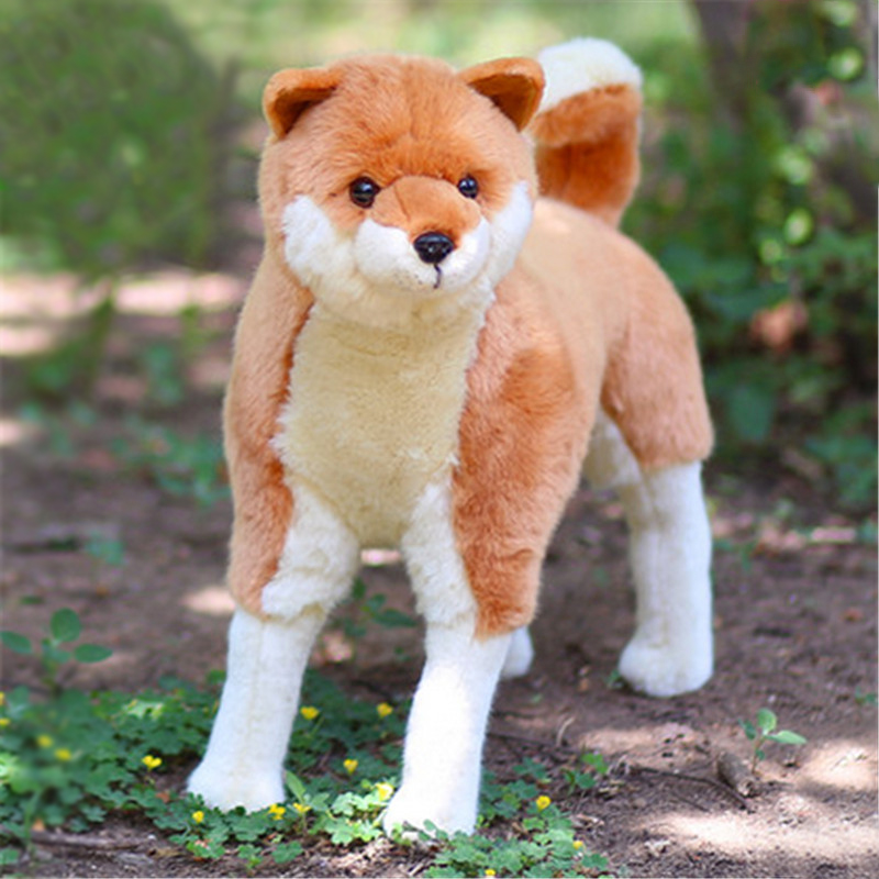 Fancytrader Simulated Animal Shiba Inu Plush Toy Big Stuffed Emulation Akita Dogs Doll 42cm X 43cm akita