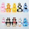 30 unids Tsum Tsum mini juguetes lote Minnie Mickey Winnie Dumbo Daisy Stitch Tigger Piglet Eeyore jenga PVC muñecas 3 tamaño libre gratis