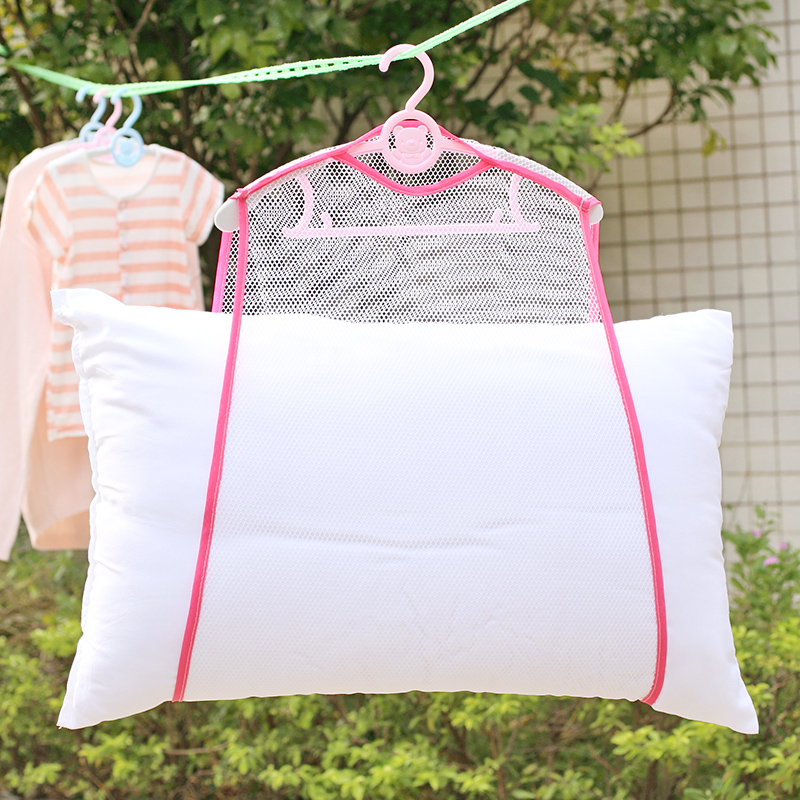 2018 Balcony windproof frame fixed pillow Multifunctional pillow toys drying rack drying racks hanging racks Net Home Container hanging container net toyscontainer home - AliExpress