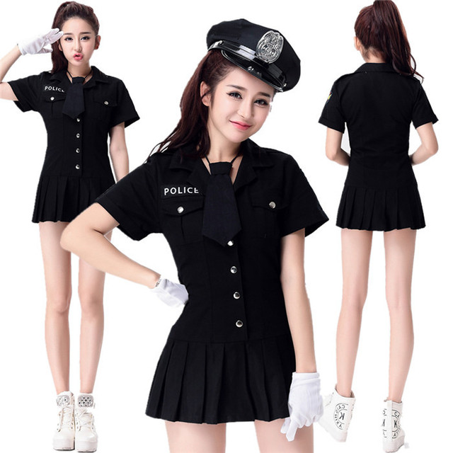 6f3c76ebf03 US $40.0 |Halloween Cosplay Clothing Dance Party model women police clothes  stage short sleeve police uniform female policewoman clothing-in Movie & ...