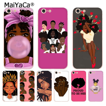 MaiYaCa 2bunz Melanin Poppin Aba hot transparent soft tpu phone case cover for iPhone 8 7 6S Plus X XS XR 5S SE case Cover image