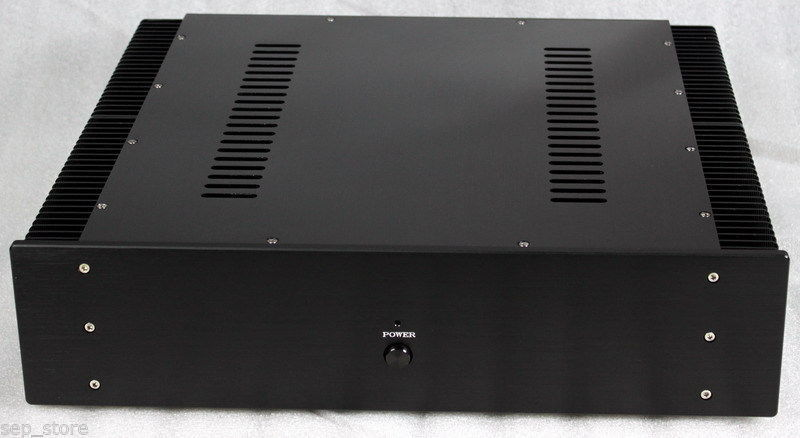 Class A Aluminum Amplifier Chassis Amp Enclosure /Case / Box 430*463*113mm 1969 aluminum enclosure power amplifier chassis class a amp box dual heatsink