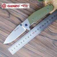 58 60HRC Ganzo G7492 440C Blade G10 Handle Folding Knife Survival Camping Tool Hunting Pocket Knife