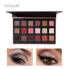 FOCALLURE 18 Color Eyes Shadow Palette Upgrade with Mirror Glitter Matte Eyeshadow  Smooth and easy to wear Makeup Set