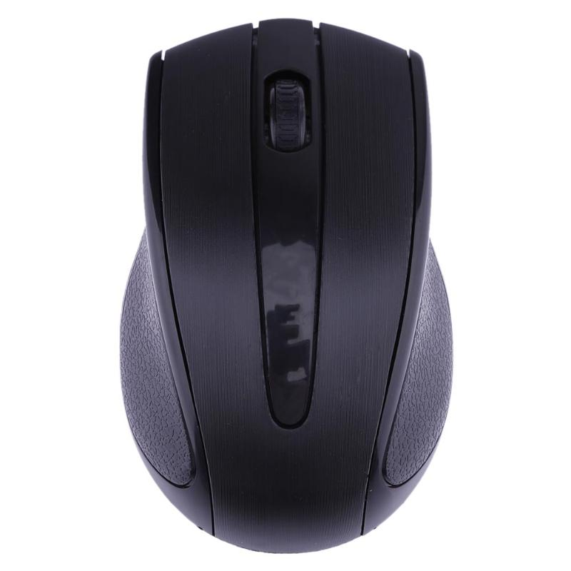 Ergonomic Optical Office 2 4G Wireless Gaming Mouse Mice Adjustable 1600DPI with 3 Buttons for Laptop