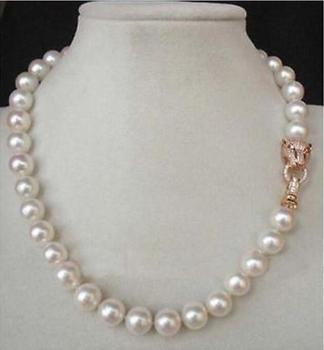 "20"" 10-9MM AAA GENUINE WHITE AKOYA PEARL NECKLACE"