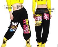 2017 New fashion Young Girls Kids autumn winter Harem Hip Hop Dance Pants Brand Sweatpants Costumes letter female trousers