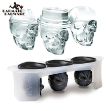Skull Ice Molds Cocktails (Set of 3) Halloween Party Spooky Fun Bar Tool Accessory