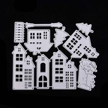 House frame metal cutting dies for scrapbooking stencil craft embossing stansmessen troqueladoras para clear stamps card making(China)