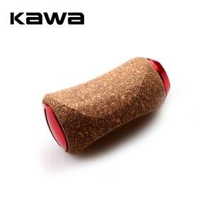 2018 KAWA Fishing Reel Handle Knob, Material Rubber Soft Wooden Knob for Daiwa Shimano Reel, DIY Handle Accessory, Free shipping(China)