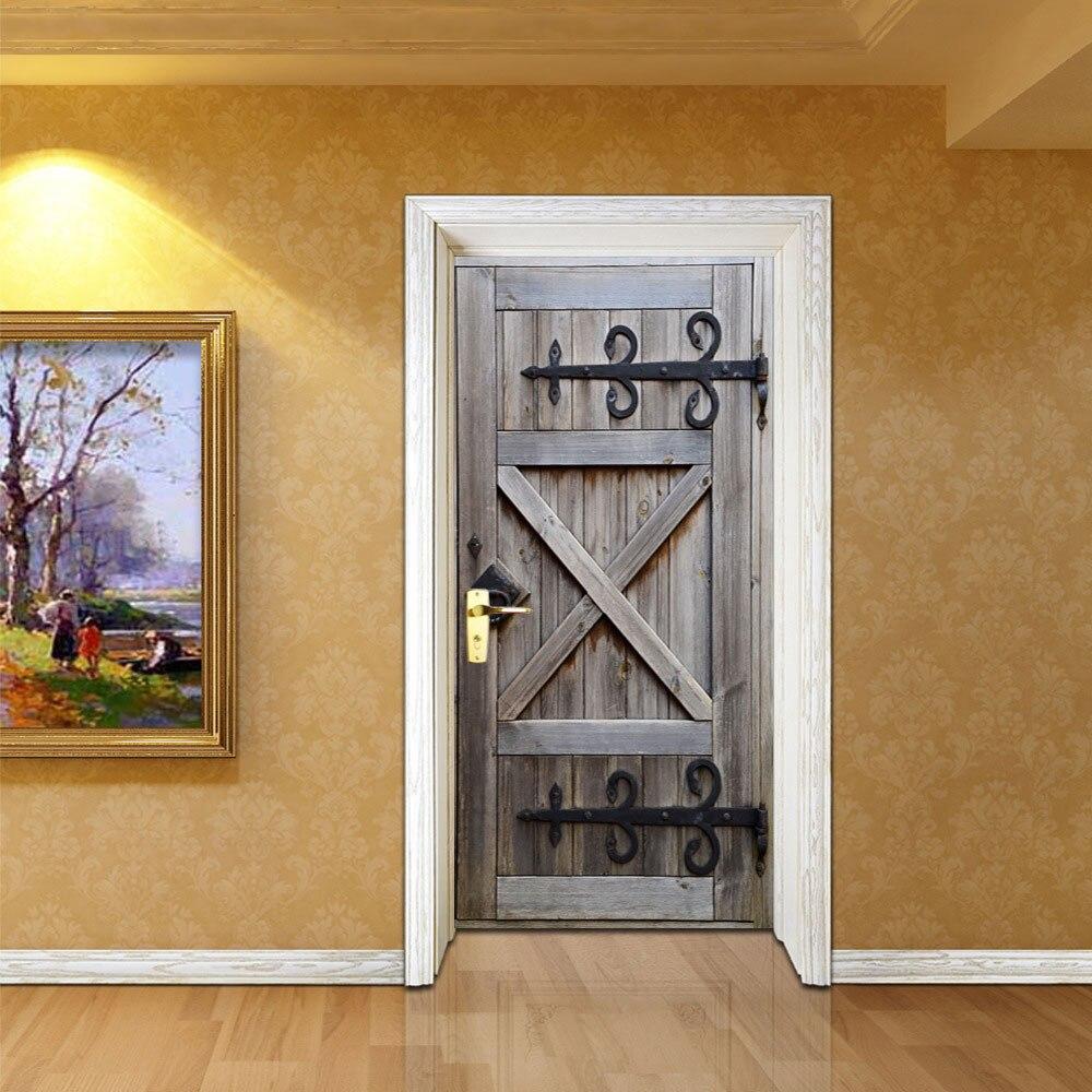 Fai Da Te Decorazioni Casa 2 pz/set vecchia porta di legno di arte della decorazione