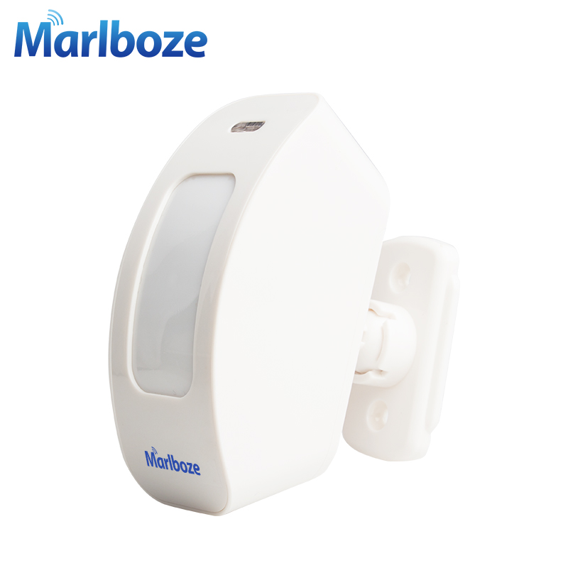 Marlboze 433MHZ Wireless Window Curtain PIR Motion Sensor Pasive Infrared Detector for Home Security Alarm System forecum 433mhz wireless magnetic door window sensor alarm detector for rolling door and roller shutter home burglar alarm system