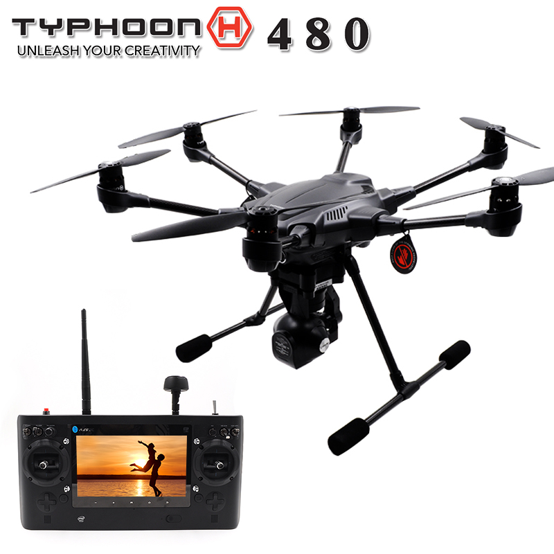 Yuneec Typhoon H480 h 480 RC Drone with Camera HD 4K RTF RC Helicopter Avoid obstacles 3Aixs 360 Gimbal vs DJI Phantom 3 4
