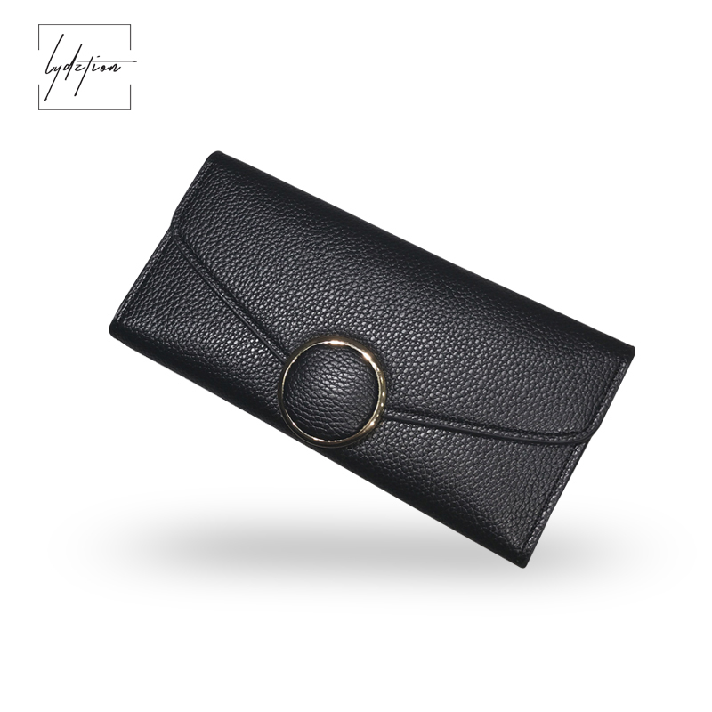 Hot 2018 New European Simple Real Leather Long Wallet Women Round Buckle Fashion Big Capacity Multi-Card Spring Clutch Purse Bag yuanyu 2018 new hot free shipping real python skin snake skin color women handbag elegant color serpentine fashion leather bag