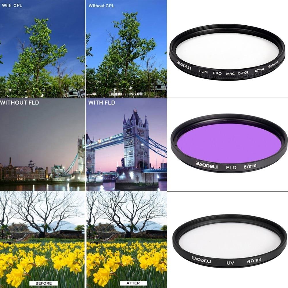 72 BAODELI Dslr Mrc Filtro One Set CONCEPT UV CPL FLD Lens Filter 49 52 55 58 62 67 72 77 82 mm For Camera Cannon Nikon Sony a6000 (3)