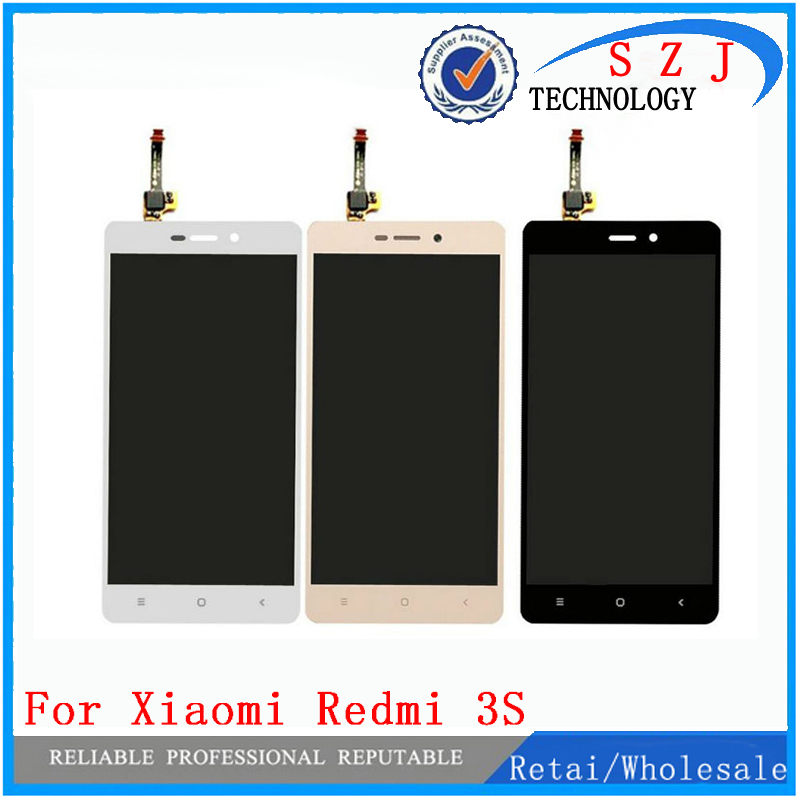 New 5'' inch case For Xiaomi Redmi 3S LCD Display + Touch Screen Digitizer Assembly Replacement For Xiaomi Redmi 3S Smart Phone replacement lcd digitizer capacitive touch screen for lg vs980 f320 d801 d803 black