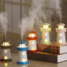Classic Lighthouse Mini USB Humidifier Fogger Ultrasonic Car Home Office  DC 5V Diffuser LED Light Air Purifier Humidifier 150ml