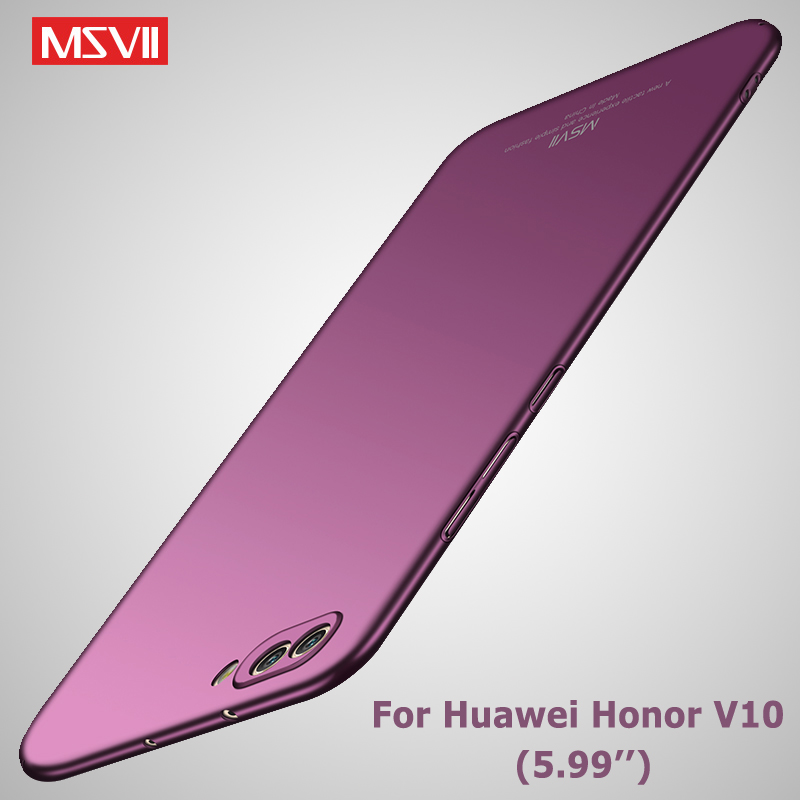 Honor v10 Case Cover Msvii Slim Matte Coque For Huawei Honor View 10 Lite Case Hard PC Cover For Huawei V10 View 10 Phone Cases