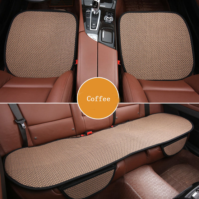 Car Seat Cover Cushion Non Slip Flax Car Protector Save Your Auto