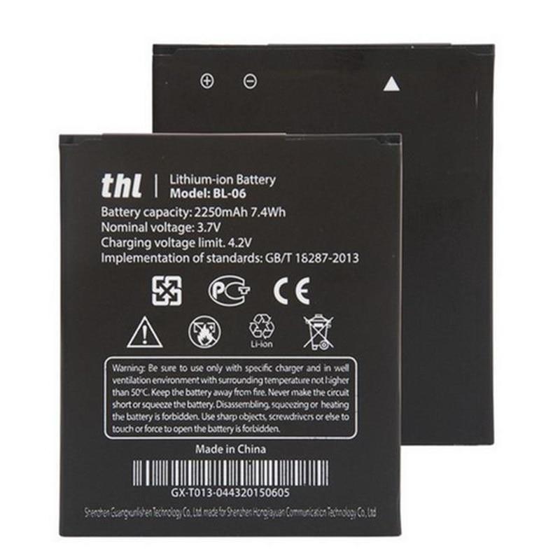 2250 мАч Батарея BL-06 новый для <font><b>THL</b></font> T6 Pro T6S <font><b>T6C</b></font> мобильный телефон Bateria литий-ионный Перезаряжаемые аккумулятор замена + трек номер