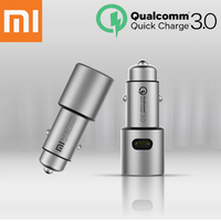 Xiaomi Original Car Charger QC 3.0 Dual USB Quick Charge For iPhone Samsung Huawei oppo vivo xiaomi car charger Max 5V3A Metal