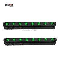 (2ชิ้น)คานบาร์นำย้ายไฟหัวRGB W 8x12วัตต์หลอดไฟLed DMX 10/38ช่อง