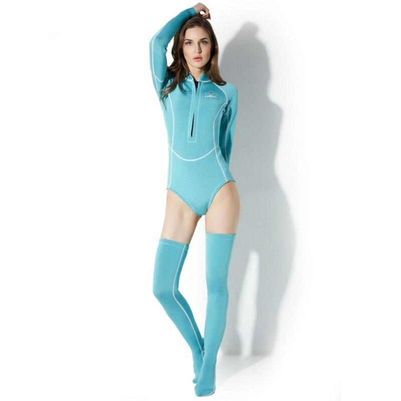 2019 nouveau coréen Triangle à manches longues combinaison maillot de bain anti-éruption chaussettes longues chaud Rashguard combinaison de plongée planche à voile vêtements de plongée