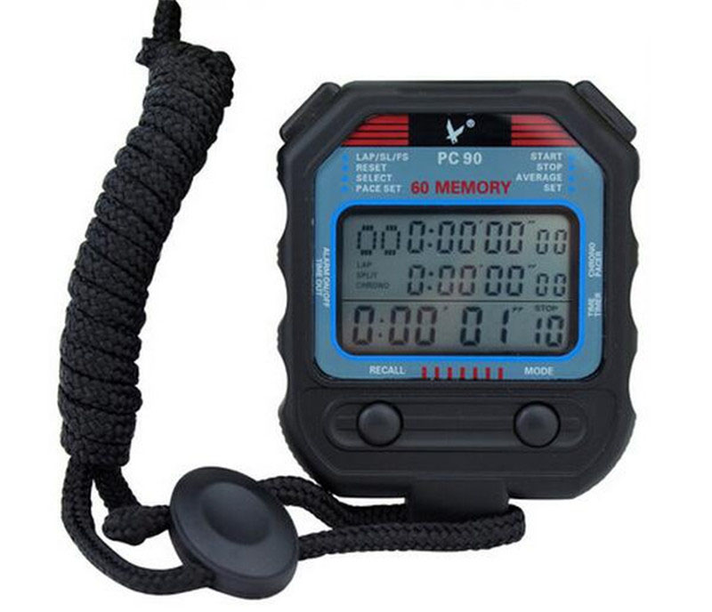 Digital Professional <font><b>Stopwatch</b></font> 3 Rows 60 Laps second Digital Sport Counter Timer PC90 Professional Athletics <font><b>Stopwatch</b></font> for Men
